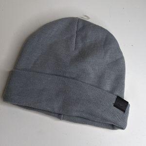 Boconi gray knit beanie hat (m)